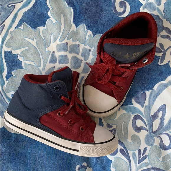All Star High Tops Maroon Navy 9 Infant